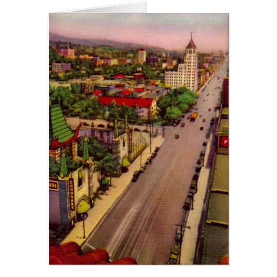 Hollywood California Hollywood Boulevard Card
