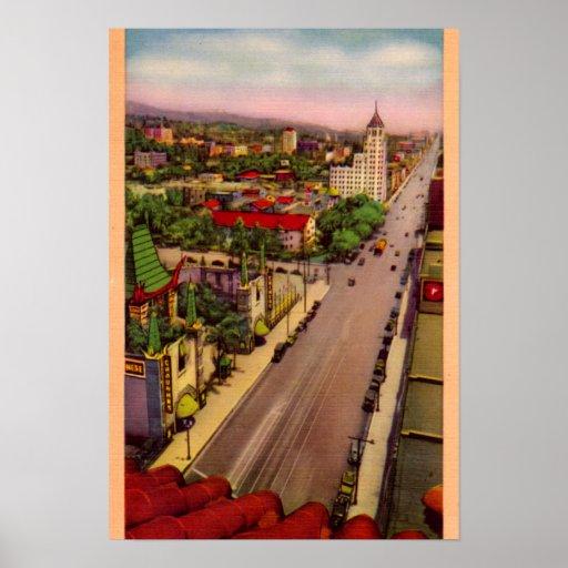 Hollywood California Hollywood Boulevard Posters