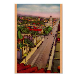Hollywood California Hollywood Boulevard Print