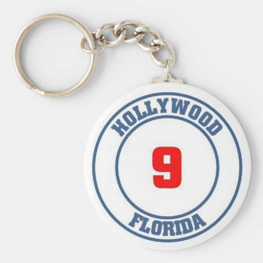 Hollywood california key chains