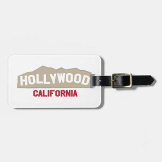 Hollywood California Luggage Tag