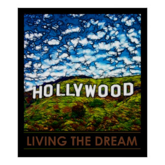 Hollywood California Poster