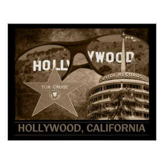 Hollywood California Poster