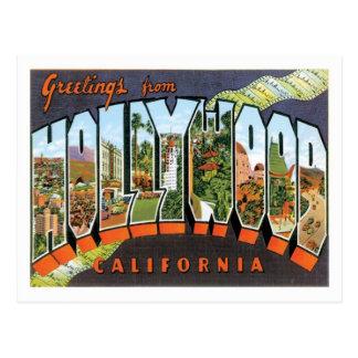 Hollywood California Travel US City Postcard
