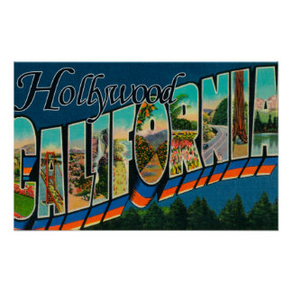 Hollywood, CaliforniaLarge Letter Scenes Posters