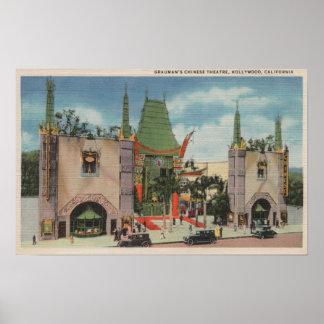 Hollywood, CAView del teatro chino de Grauman Poster