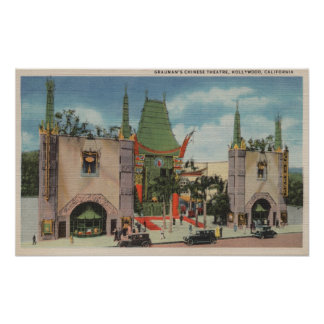 Hollywood CAView of Grauman s Chinese Theatre Posters