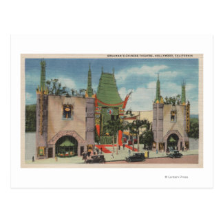 Hollywood, CAView of Grauman's Chinese Theatre Postcard