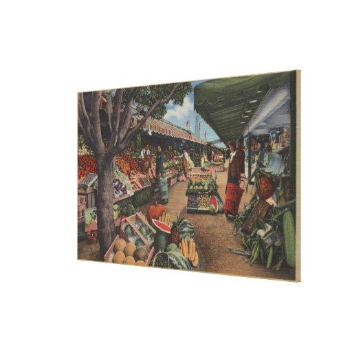 Hollywood, CAView of Original Farmer's Market Gallery Wrap Canvas