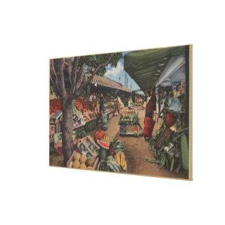 Hollywood, CAView of Original Farmer's Market Canvas Print