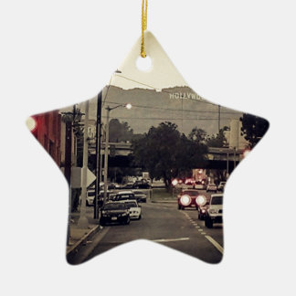 Hollywood Ceramic Ornament