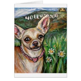 Hollywood Chihuahua love Greeting Card