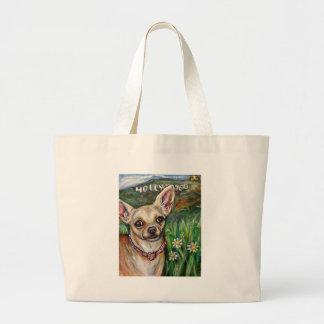 Hollywood Chihuahua love Jumbo Tote Bag