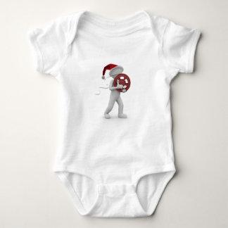 hollywood christmas baby bodysuit