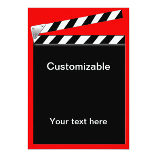 Hollywood Clapper Board Customizable Card