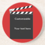 Hollywood Clapper Board Customizable Drink Coasters