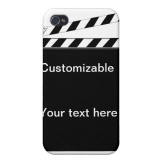 Hollywood Clapper Board Customizable Cover For iPhone 4