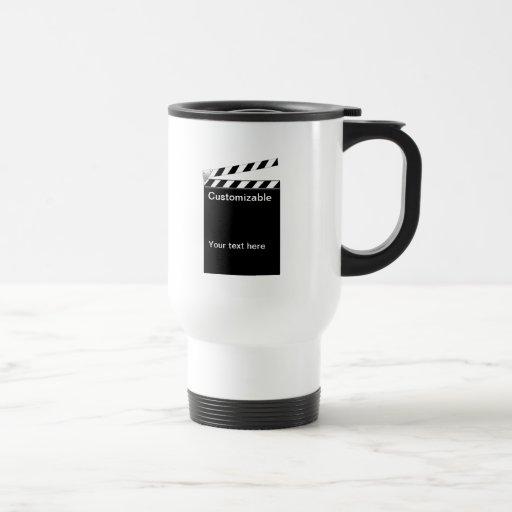 Hollywood Clapper Board Customizable Mugs