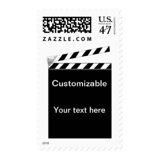 Hollywood Clapper Board Customizable Postage
