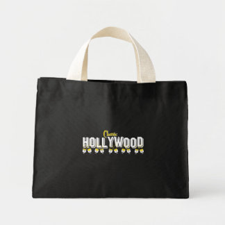 Hollywood Classic Black Background Canvas Bags