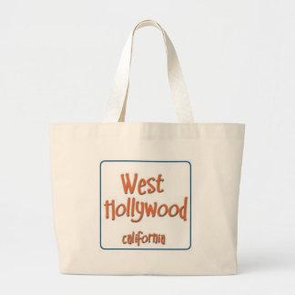 Hollywood del oeste California BlueBox Bolsa Lienzo