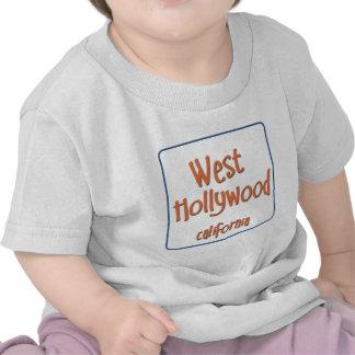 Hollywood del oeste California BlueBox Camisetas