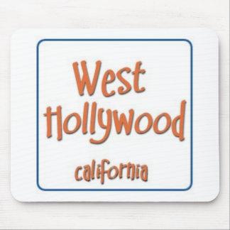 Hollywood del oeste California BlueBox Alfombrilla De Ratones