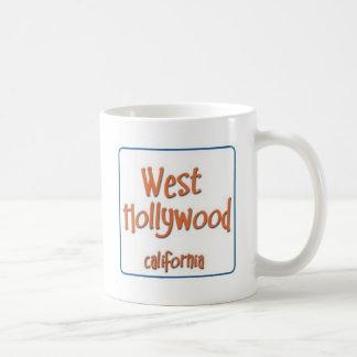 Hollywood del oeste California BlueBox Taza