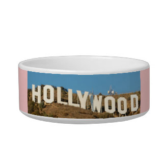 HOLLYWOOD Dog or Cat food Dish PINK Pet Bowl