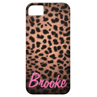 Hollywood Doll Leopard Print Pink Name Phone Case iPhone 5 Case