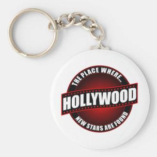 Hollywood - el lugar donde… Se encuentran las nuev Llavero Redondo Tipo Pin