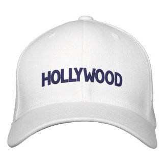 HOLLYWOOD EMBROIDERED BASEBALL HAT
