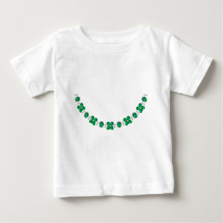Hollywood Emerald Glamour Necklace Baby T-Shirt