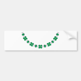 Hollywood Emerald Glamour Necklace Bumper Sticker