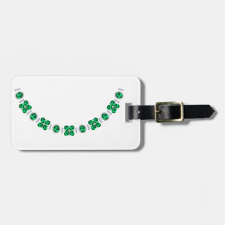Hollywood Emerald Glamour Necklace Travel Bag Tags