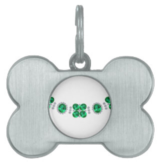 Hollywood Emerald Glamour Necklace Pet Tag