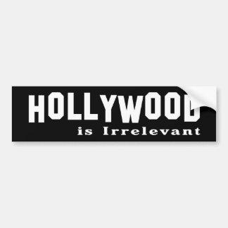Hollywood es inútil pegatina para auto