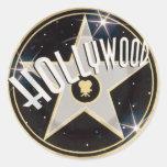 Hollywood Etiqueta Redonda