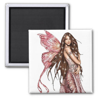 Hollywood Fairy 2 Inch Square Magnet