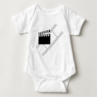 hollywood film clapper baby bodysuit