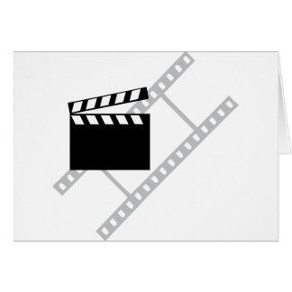 hollywood film clapper greeting card