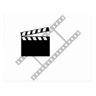 hollywood film clapper postcard