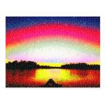 Hollywood FL Romantic Sunset. Postcard