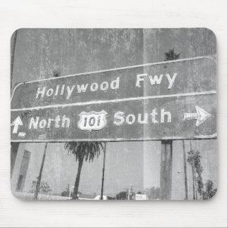 Hollywood Freeway Sign Mouse Pad
