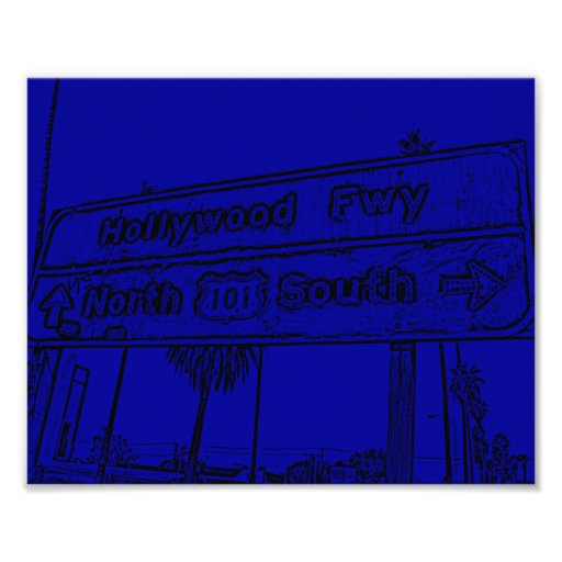 Hollywood Fwy Sign Art Photo