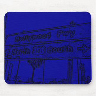Hollywood Fwy Sign Mouse Pads