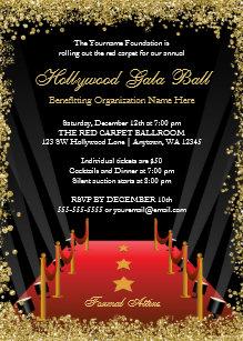 Red Carpet Invitations Zazzle