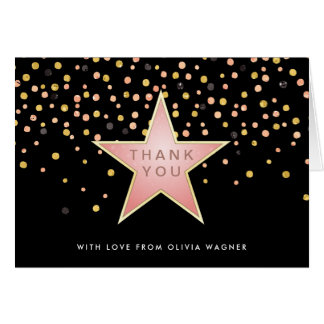 Hollywood Glam Personalized Thank You Card