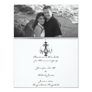 Hollywood Glamour Chandelier Save the Date Custom Invitation