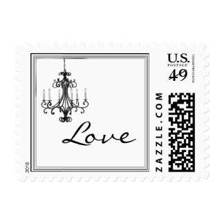 Hollywood Glamour Chandelier Stamp
